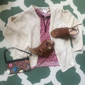 Cold water creek sweater cream NWT